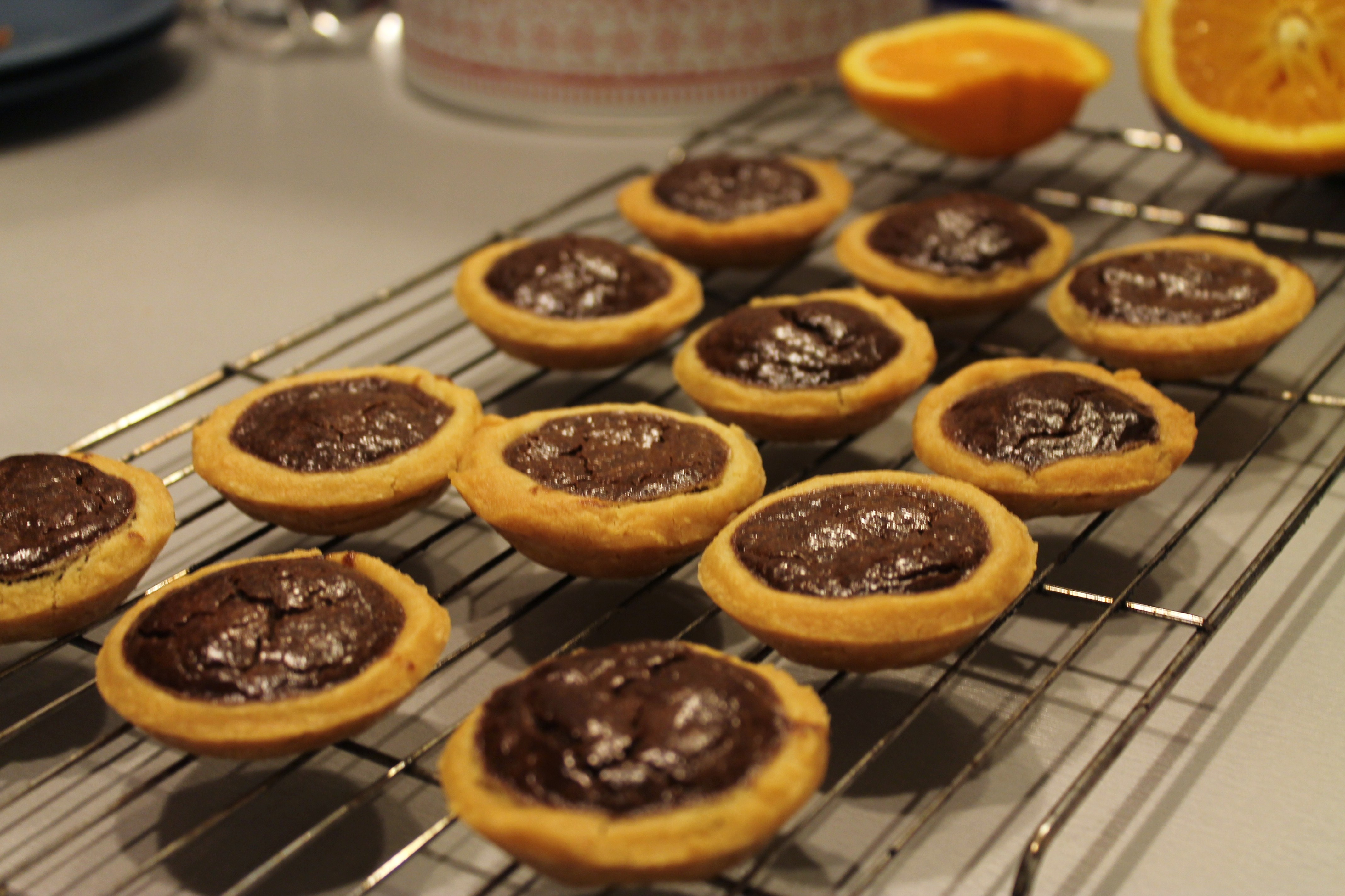 ... chocolate orange tarts – the perfect sweet treat for any Halloween