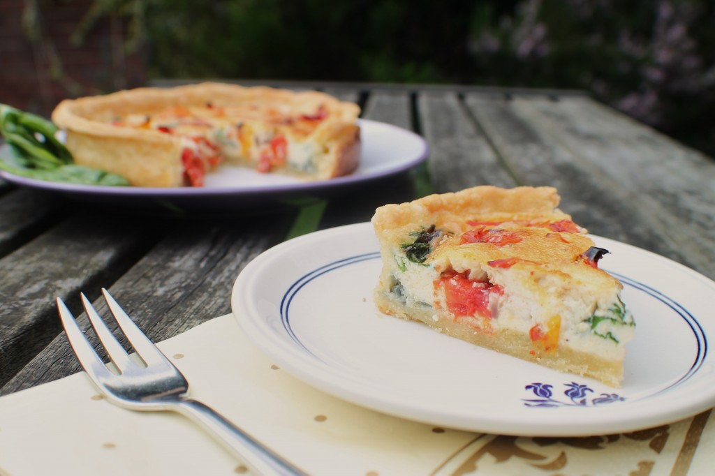 Pepper, Spinach and Goat's Cheese Quiche
