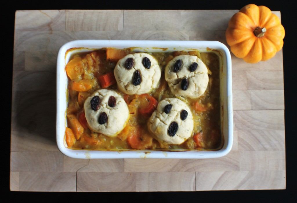 Halloween Stew and Dumplings