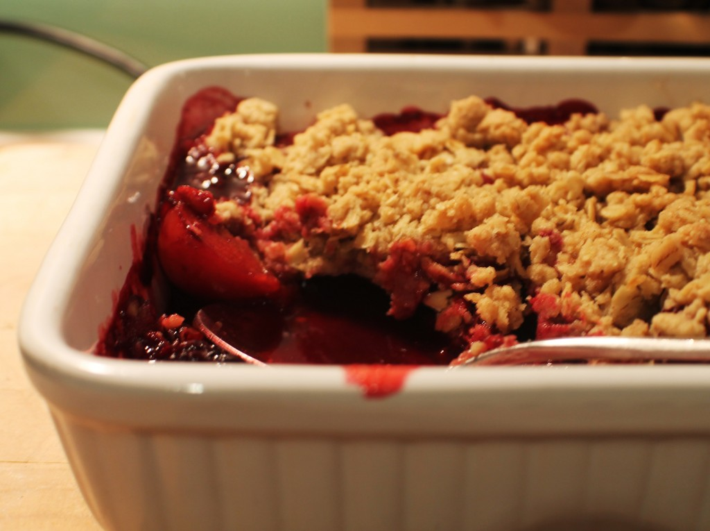 Scottish Plum Crumble