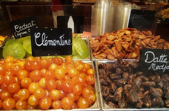 Glace fruits in Sarlat, France