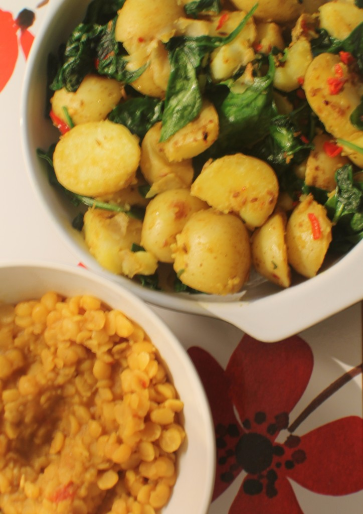 Dal and Sag Aloo