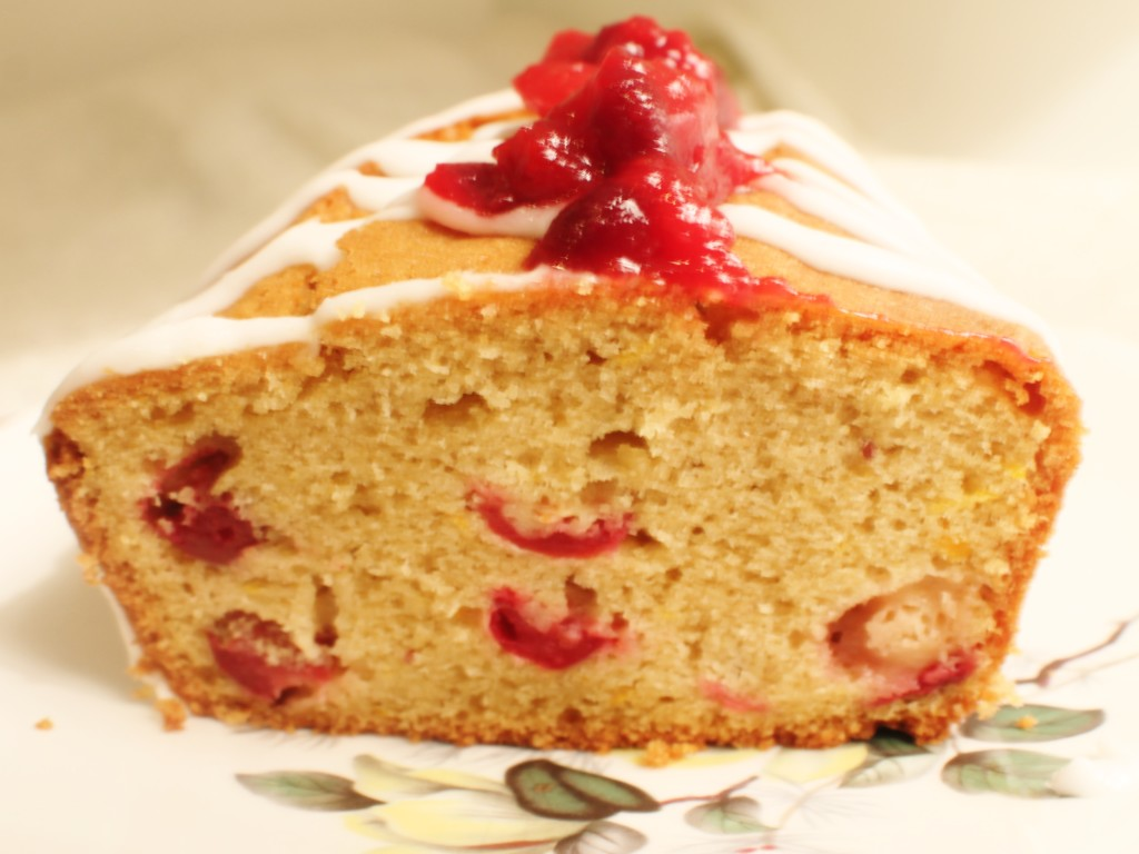 Christmas Orange and Cranberry Cake