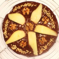 Mocha Pear Cake for #SundaySupper