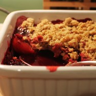 Plum and Blackberry Crumble for Thanksgiving #SundaySupper